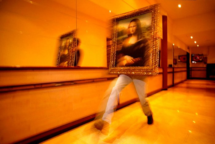 Mona Lisa in Barcelona, Spain