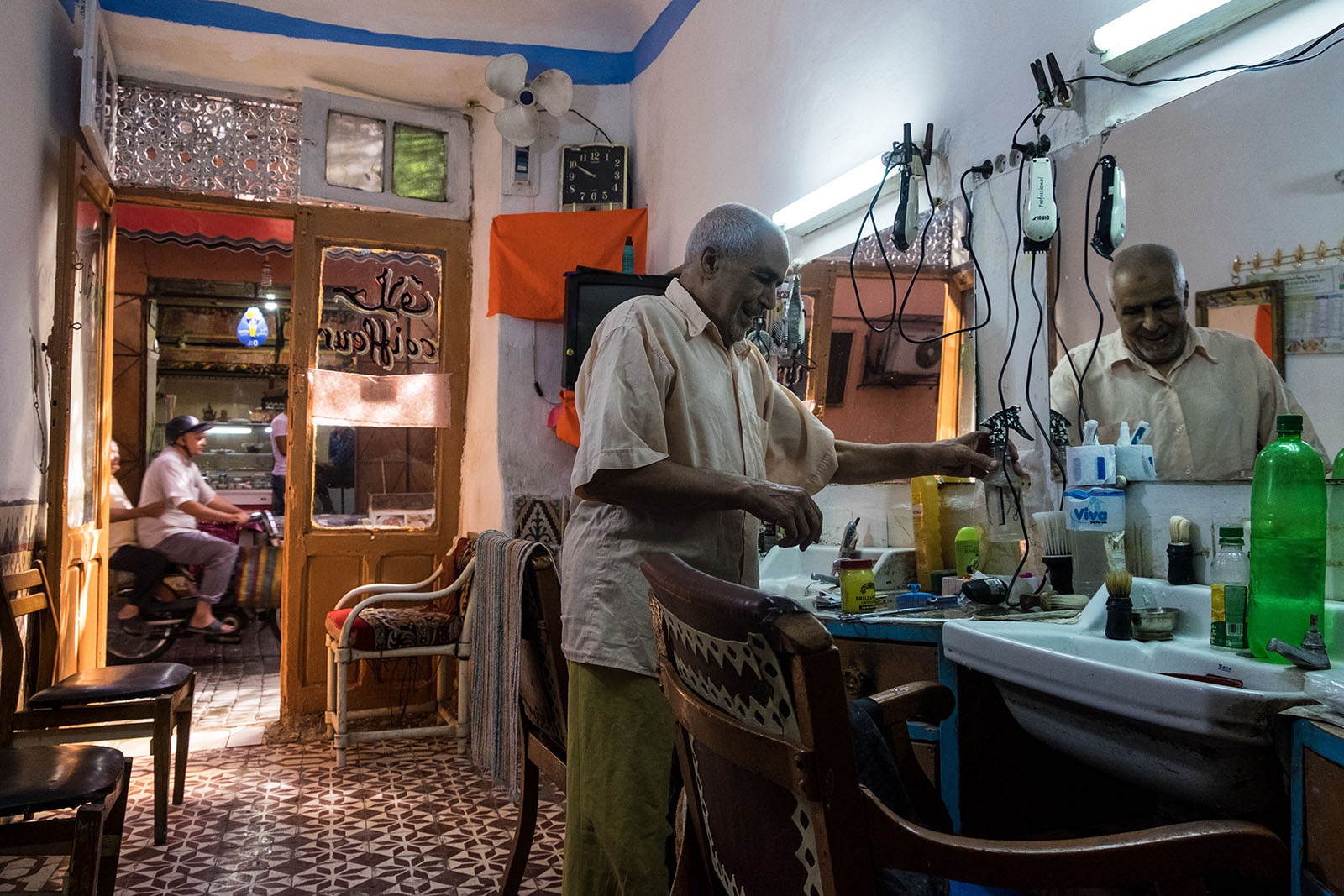 Barber Shop in Marakech, Morocco
