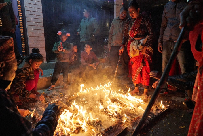 Religious Night celebrations in Bandipur, Nepal