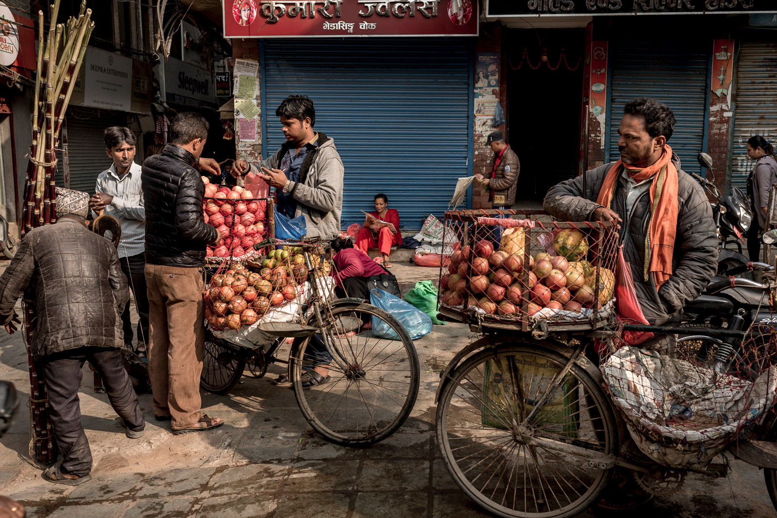 street market, nepal