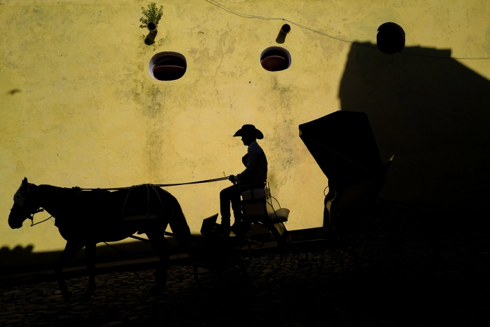 Horse with carriage silhouette, Trinidad Cuba