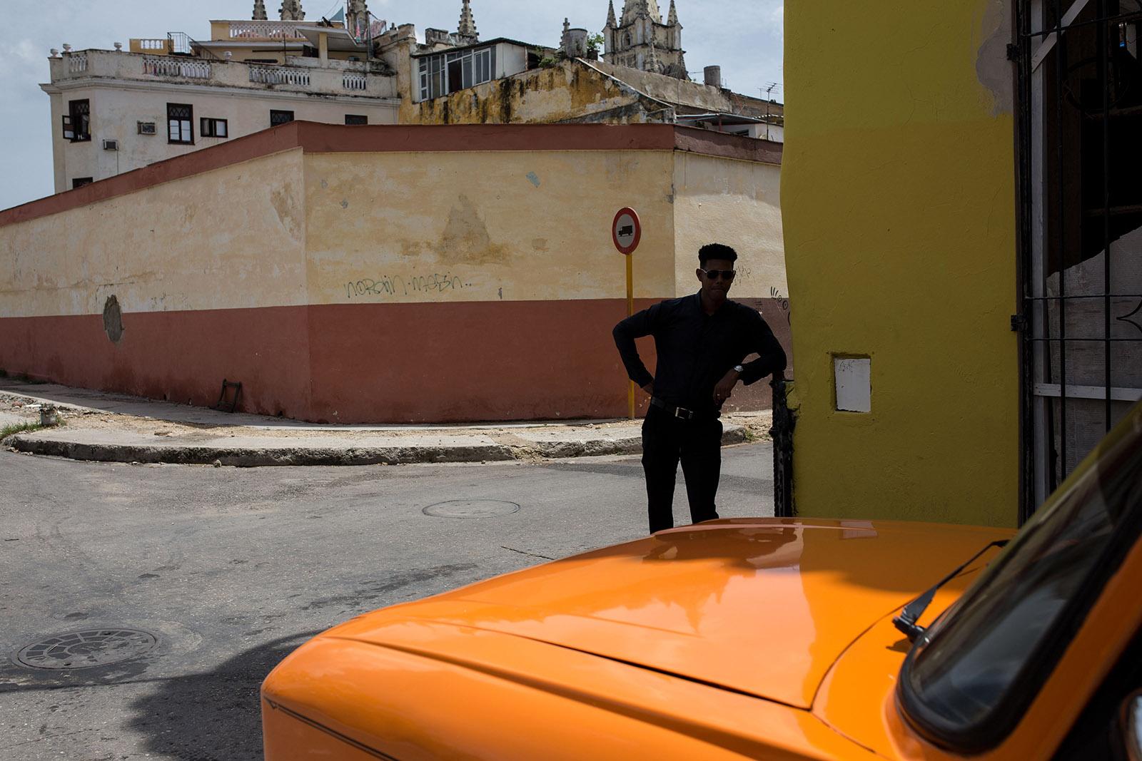 Man resting in Havana, Cuba