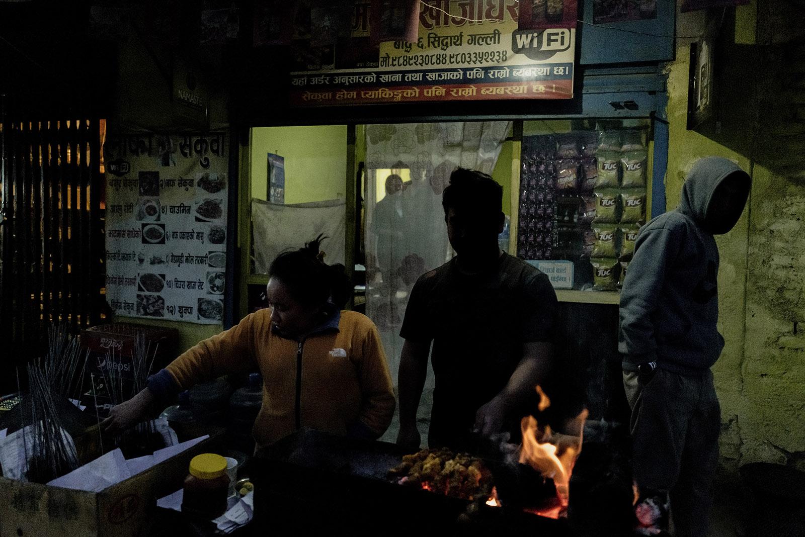 Street vendor near Boudhanath Kathmandu Nepal