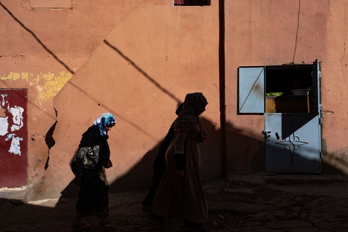 Play of shadows in Boumalne Dades, Morocco