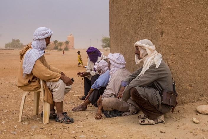 Berbers rest in Ramlia, Morocco