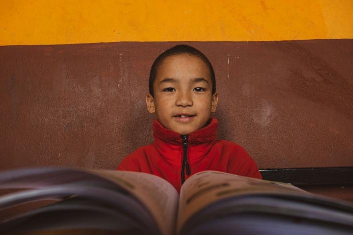 Young monk in class, Kathmandu Nepal