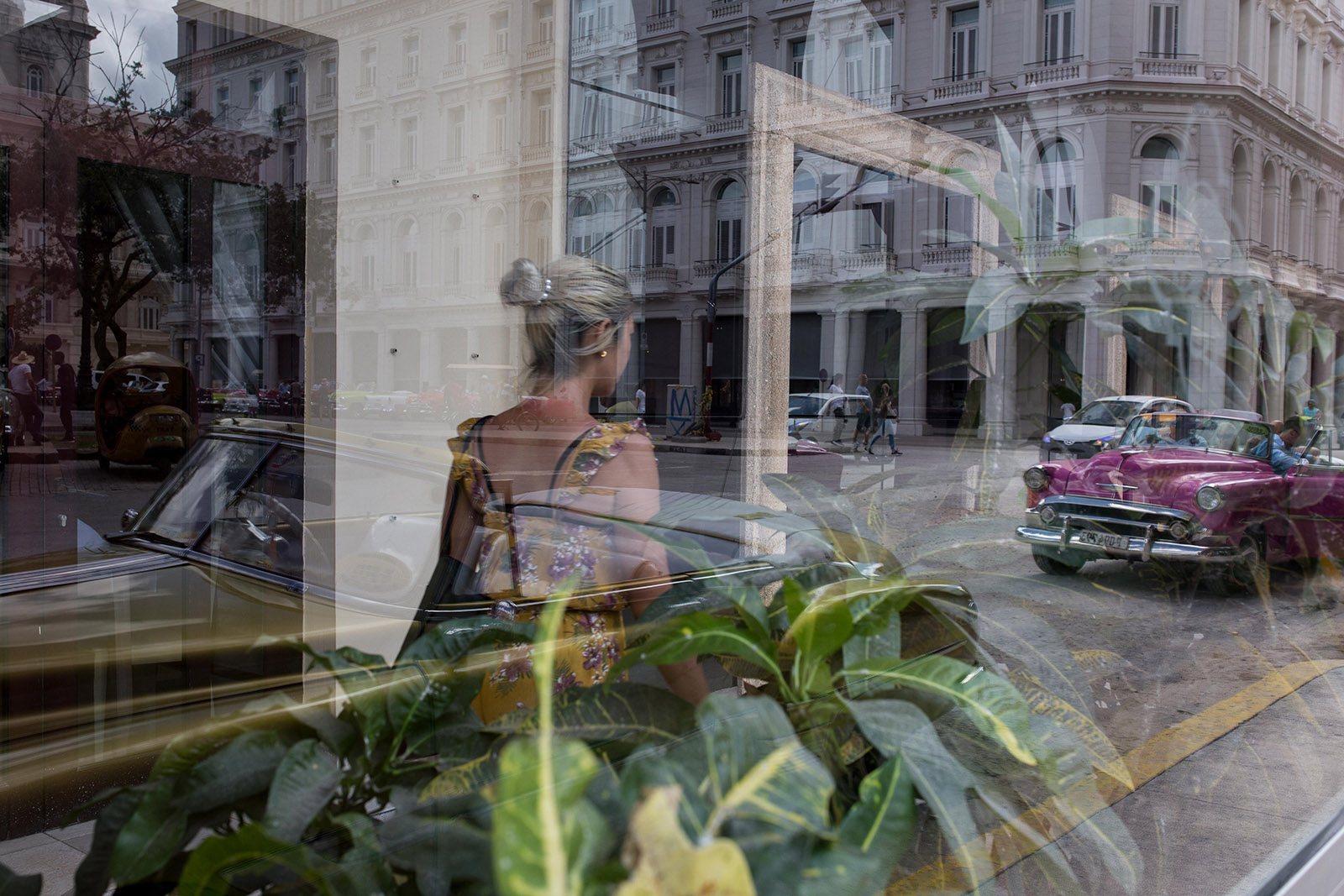 Reflections of the streets in Havana