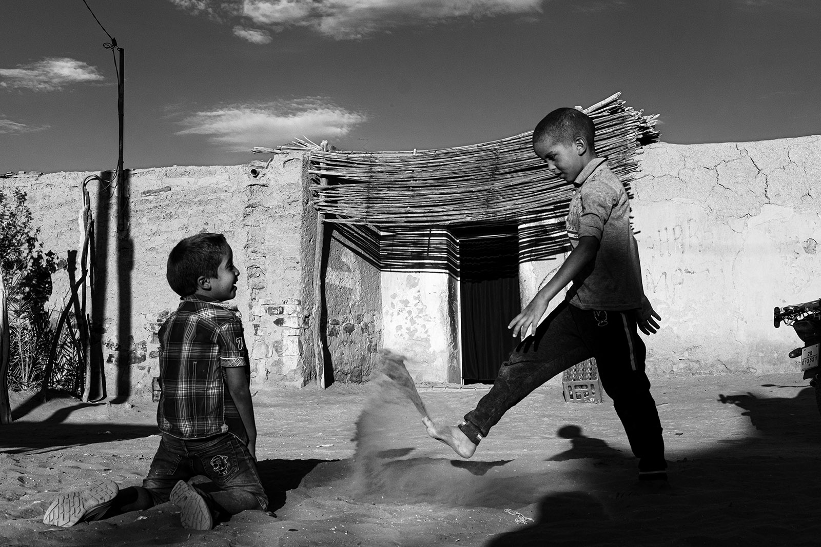 Boys at play, Tafraoute, Morocco