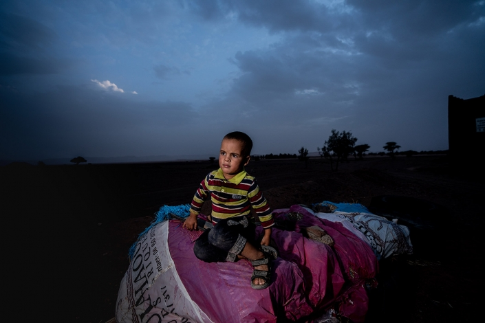Boy in the evening in Tafraoute